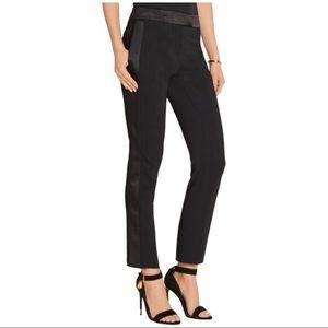 Rachel Zoe black tuxedo satin strip pant size 4